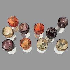 Mid Century Set of ten European Goblets