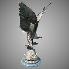 Mid 20th C. French Bronze Eagle Sculpture