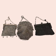 Three Vintage Mesh Coin Purses