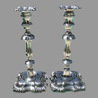 Pr. of British Sterling Candlesticks