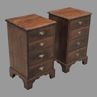 Pair of Small 19th C. English Chests of Drawers