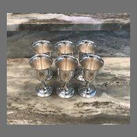 Set of 6 Sterling Silver Goblets