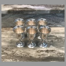 Set of 6 Sterling Silver Goblets