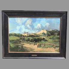Early 20th C. Jacque Adrian Witjens Oil Painting