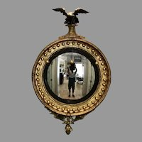Early 19th C. Regency Convex mirror