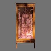 C. 1900 English Satinwood Display Cabinet