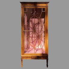 C. 1900 English Satinwood Display Cabinet