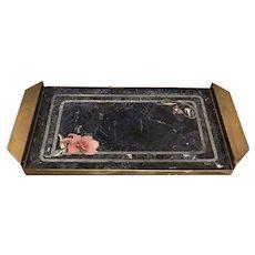 C. 1950 Italian Inlaid Stone Tray