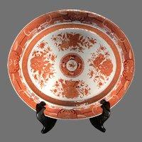 Late 18th C. Orange Fitzhugh Chinese Porcelain Platter