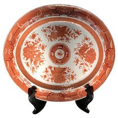 Late 18th C. Orange Fitzhugh Chinese Porcelain Platter