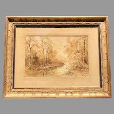 Late 19th C. American Waterclor Painting