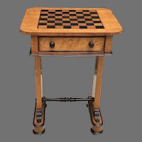 Early 19th C. English Work/Game Table