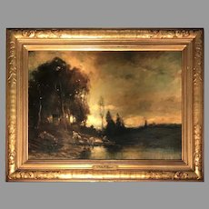 Early 20th C. Charles Appel Impressionist Oil Painting