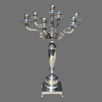Mid 20th C. Italian Silver Candelabrum