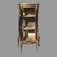 Late 19th C. French Display Cabinet