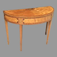 Late 18th C. English Satinwood Game Table