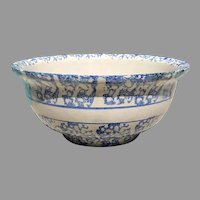 19th American Spongeware Pottery Bowl