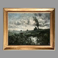 19th C. British Impressionist Landscape Painting