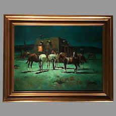 Mid 20th C. American Western Oil Painting
