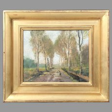 Early 20th C. Anthony Thieme Oil Painting
