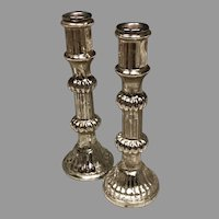 Early 20th C. Glass Candlesticks