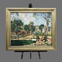 Early 19th C. Albert Worcester Oil Painting