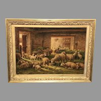 Late 19th C. Belgian Oil Painting