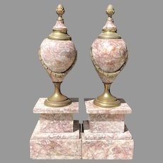 Late 19th C. Pair of French Cassolettes