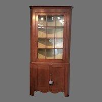 Early 19th c. American Corner Cupboard