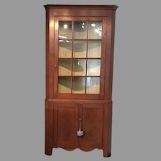 Early 19th c. American Corner Cupboard