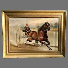 19th C. English Equestrian Oil Painting