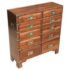 Mid Century Campaign Style Chest of Drawers