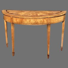 19th C. English Satinwood Console Table