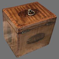 C. 1780 English Satinwood Tea Caddy