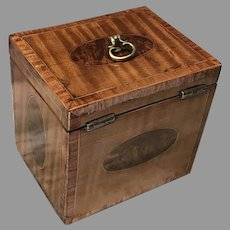 C. 1780 English Satinwood Tea Caddy