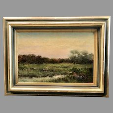 Early 20th c. Dwight Tryon oil painting