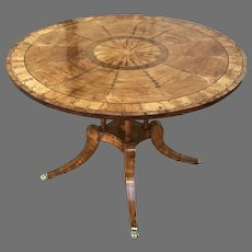 19th C. English Satinwood Center Table