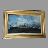 Early 20th C. Antonio Jacobsen Oil Painting