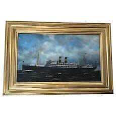 Early 20th C. Antonio Jacobsen Oil Painting
