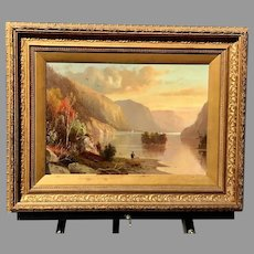 19th C. Hudson River Oil On Canvas