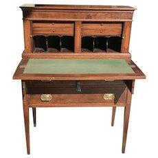 19th C. American Tambour Desk
