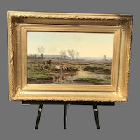 19th C. French Landscape Oil Painting