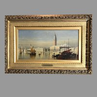 19th C. Oil Painting of Venice