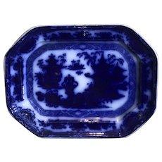 C.1840 Flow Blue English Pearlstone Platter