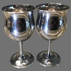 Pair Sterling Reed and Barton Goblets
