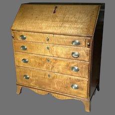 C.1800 American Tiger Maple Desk