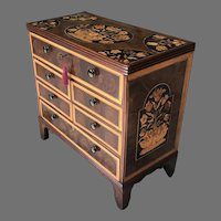 18th C. George III Miniature Chest of Drawers