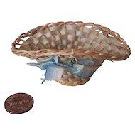 Petite Delicate Vintage Doll Basket