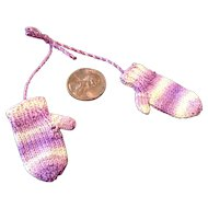 Tiny Beautifully Hand Knit Mittens