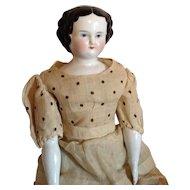 C. 1860s Flat Top China Head Doll